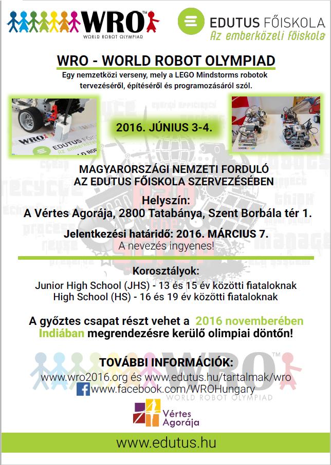 World Robot Olympiad Magyarország 2016